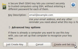 Screenshot-New Secure Shell Key