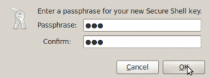 Screenshot-Passphrase for New Secure Shell Key